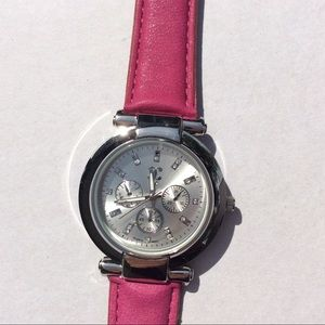 NWT Charming Charlie,s pink watch
